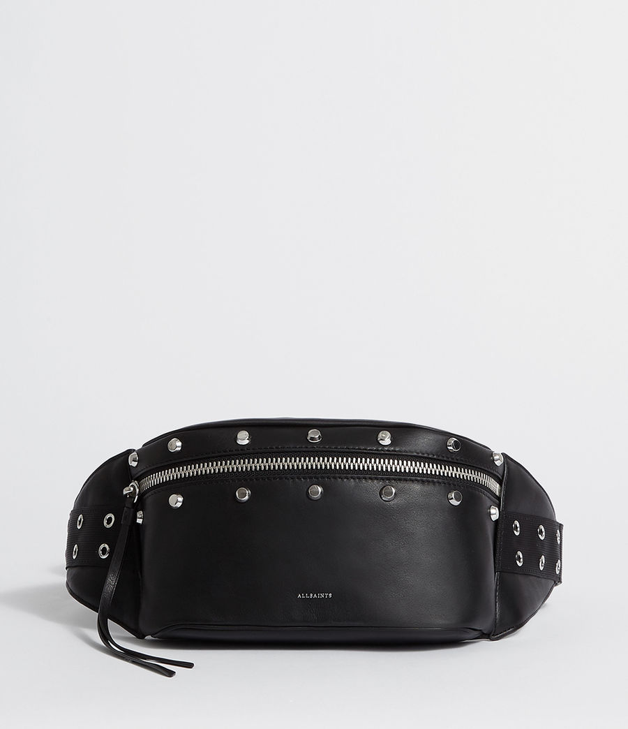 Womens Sid Leather Fanny Pack (black) - Image 1