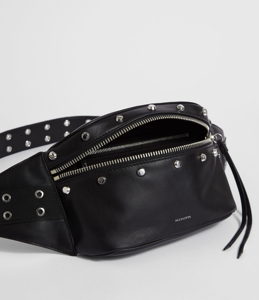 Womens Sid Leather Fanny Pack (black) - Image 4