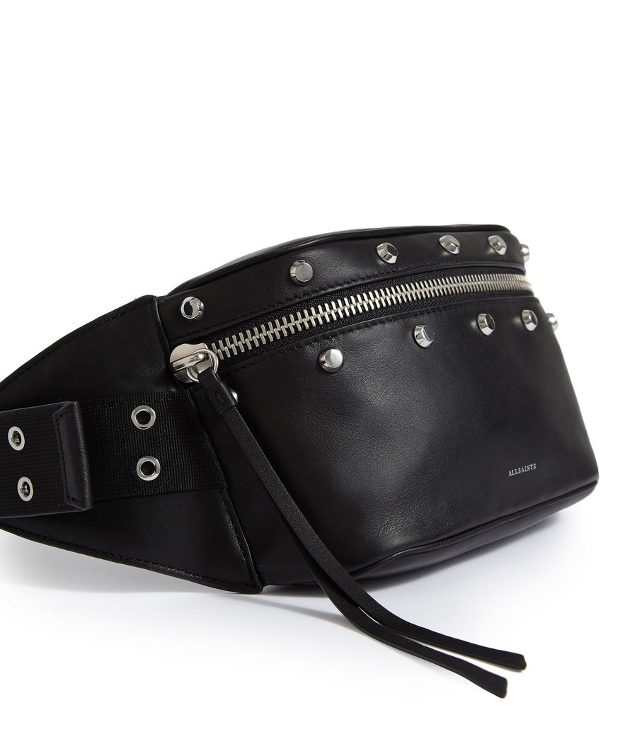 Womens Sid Leather Fanny Pack (black) - Image 5
