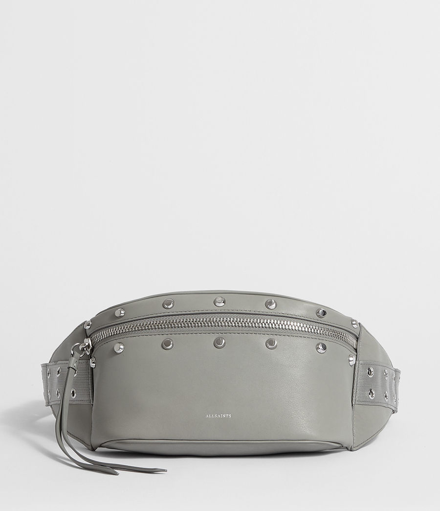 Womens Sid Leather Fanny Pack (blue_grey) - Image 1