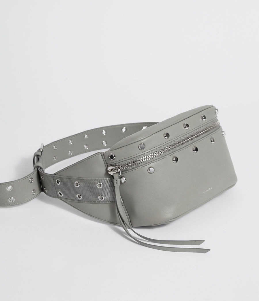 Womens Sid Leather Fanny Pack (blue_grey) - Image 3