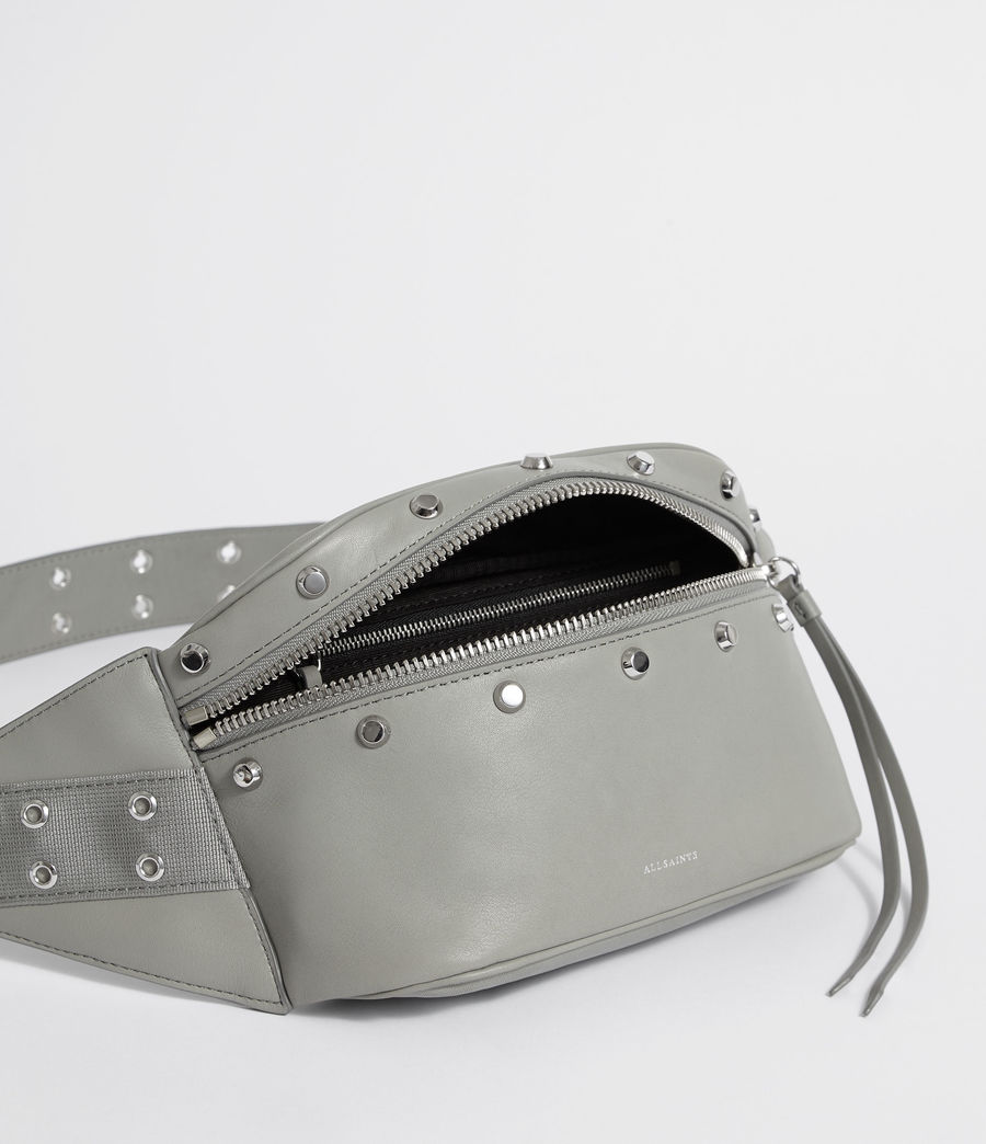 Womens Sid Leather Fanny Pack (blue_grey) - Image 4