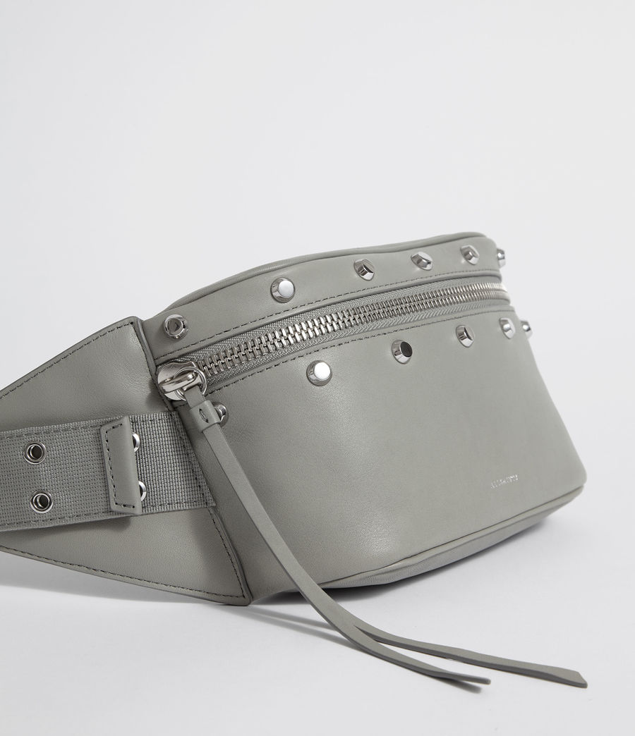 Womens Sid Leather Fanny Pack (blue_grey) - Image 5