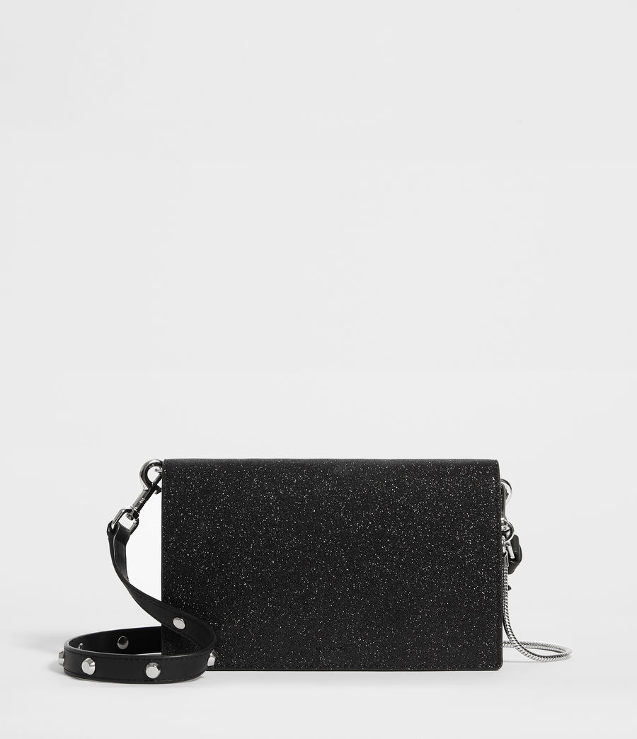 Womens Sid Leather Box Bag (shiny_black) - Image 1
