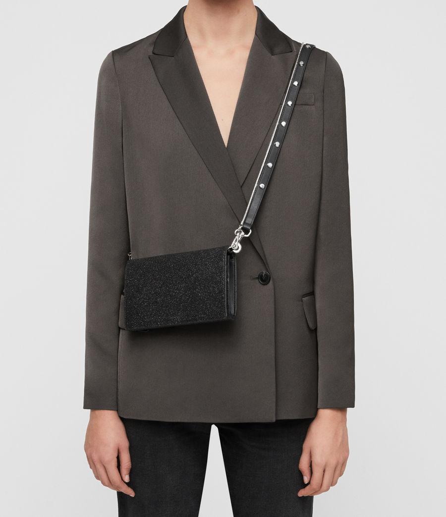 Womens Sid Leather Box Bag (shiny_black) - Image 2
