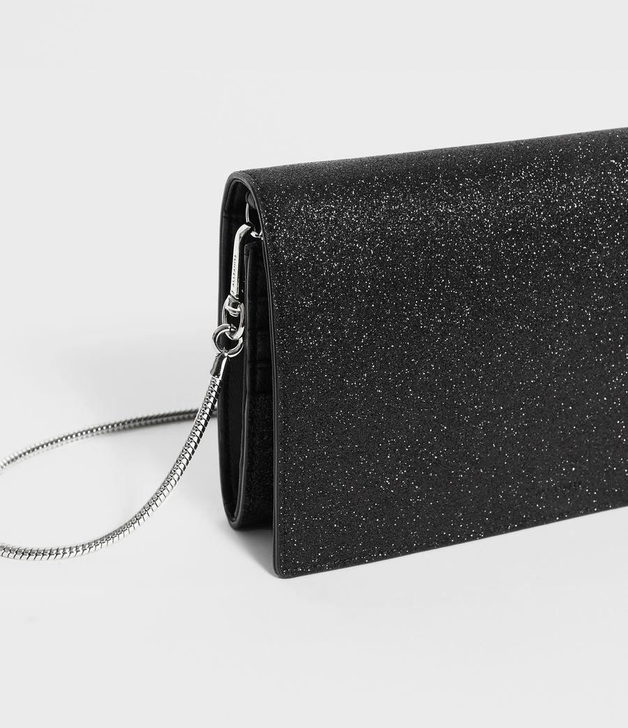 Womens Sid Leather Box Bag (shiny_black) - Image 4