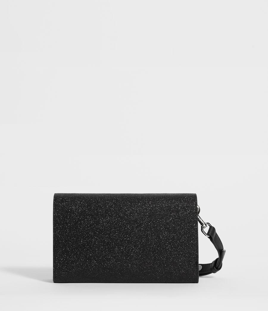 Womens Sid Leather Box Bag (shiny_black) - Image 8