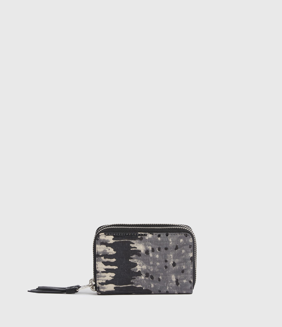 Womens Nantes Leather Cardholder (grey_multi) - Image 1