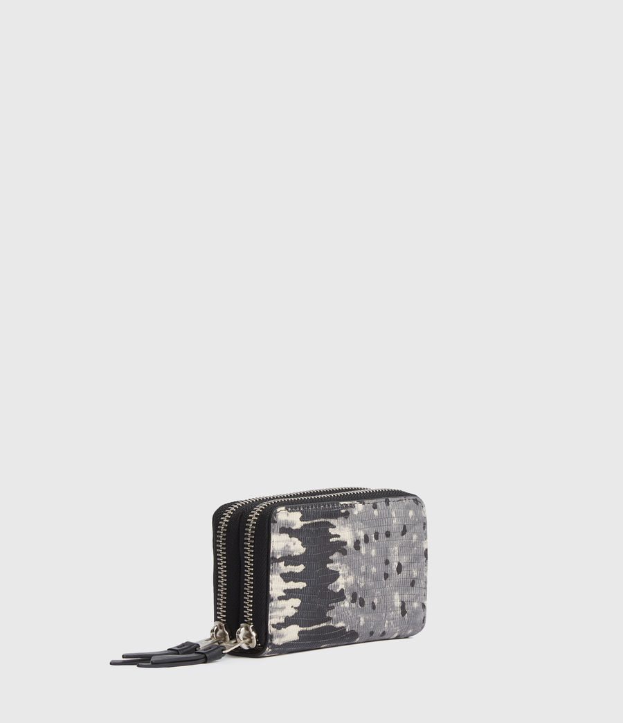Womens Nantes Leather Cardholder (grey_multi) - Image 3