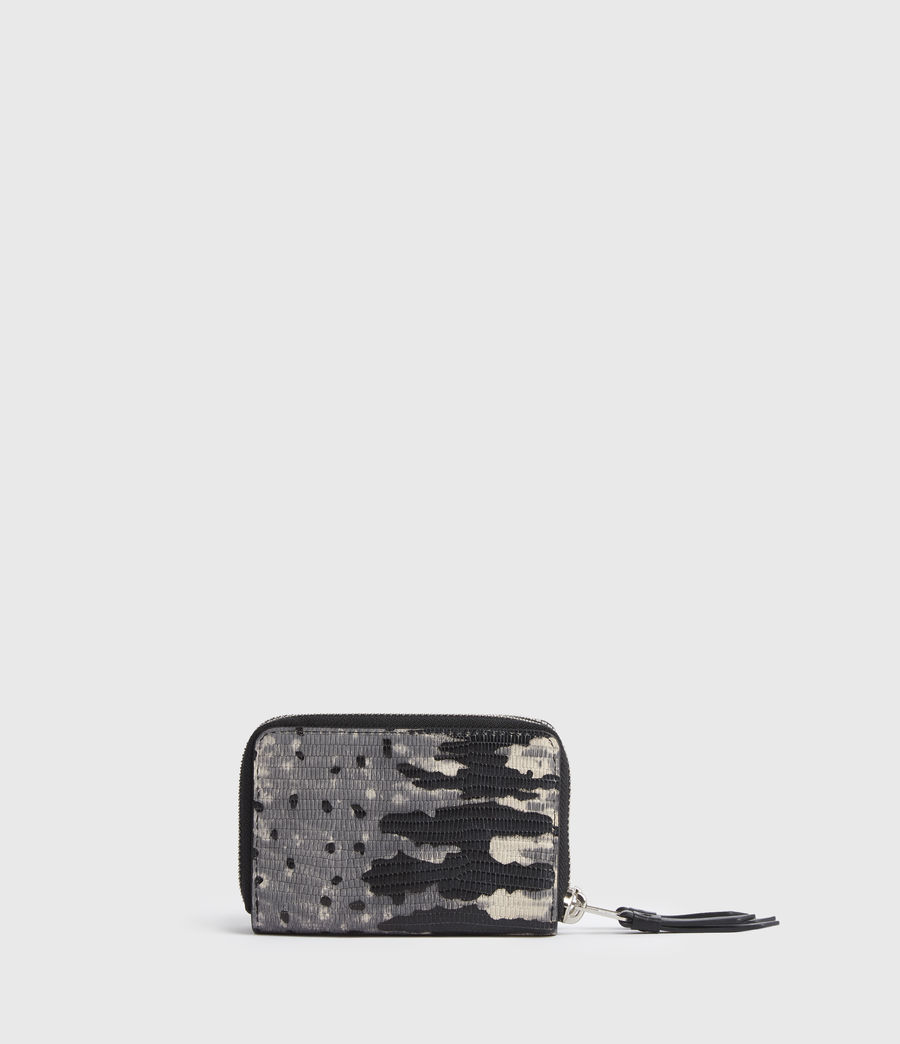 Womens Nantes Leather Cardholder (grey_multi) - Image 5