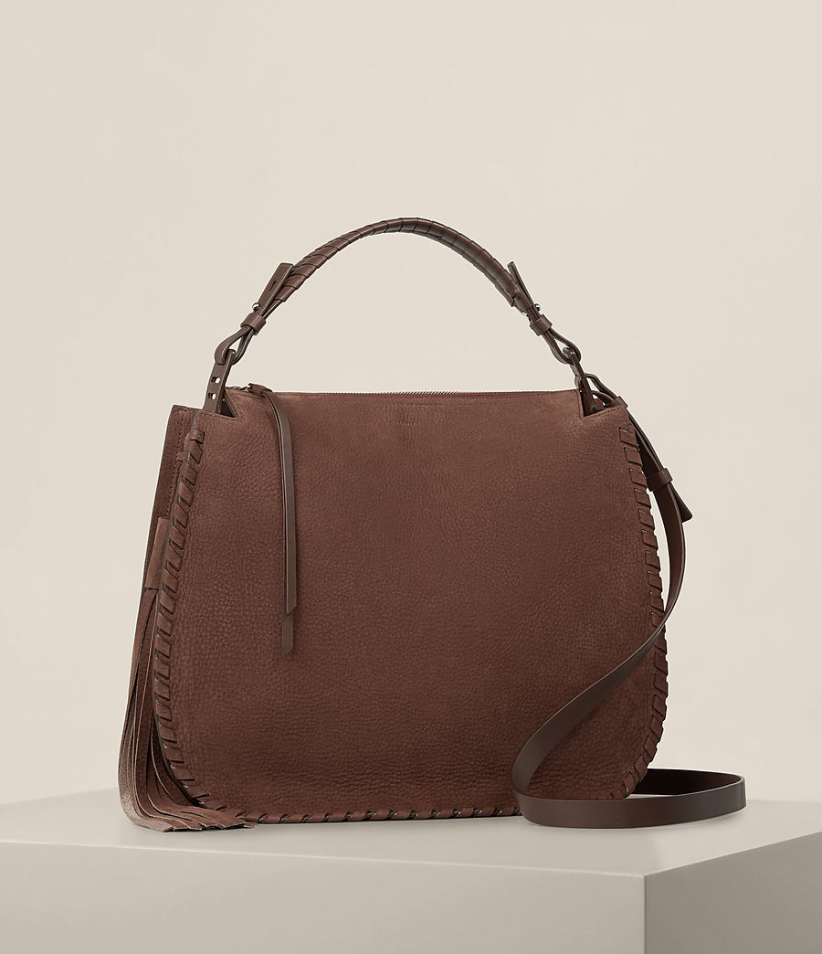 Femmes Sac hobo Mori en nubuck (chocolate_brown) - Image 5