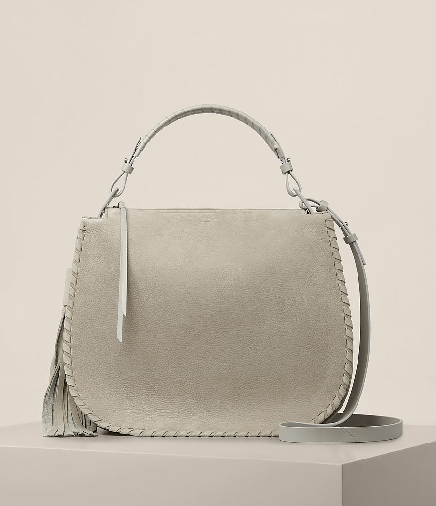 Women's Mori Nubuck Hobo Bag (light_cement_grey) - Image 1