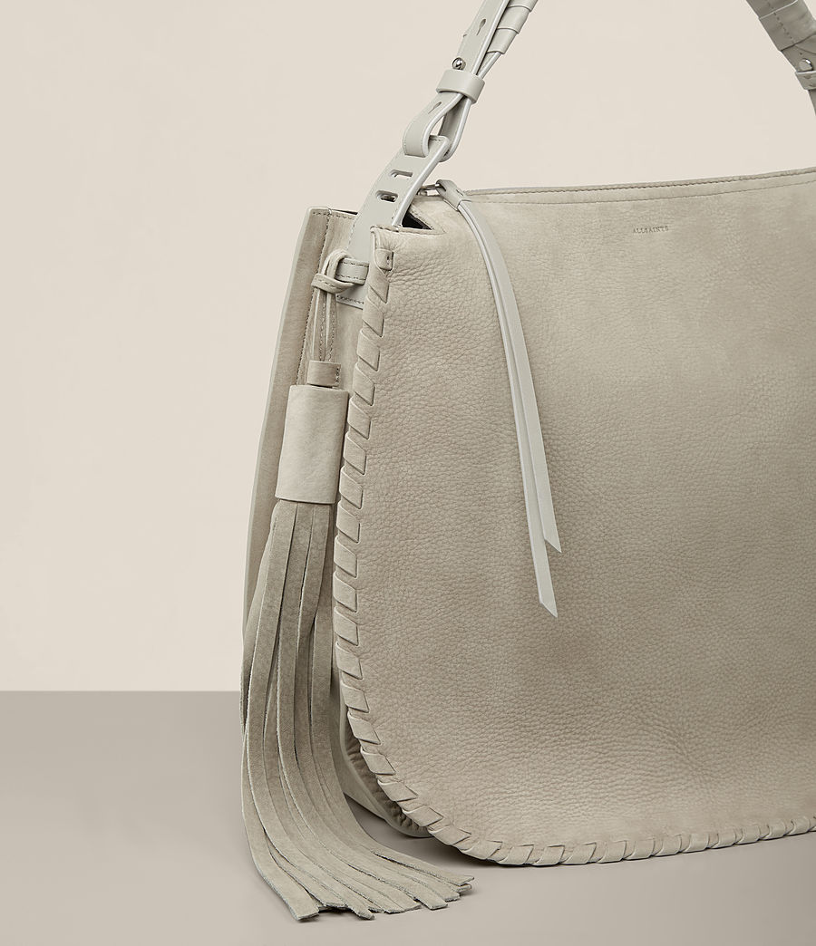 Women's Mori Nubuck Hobo Bag (light_cement_grey) - Image 3