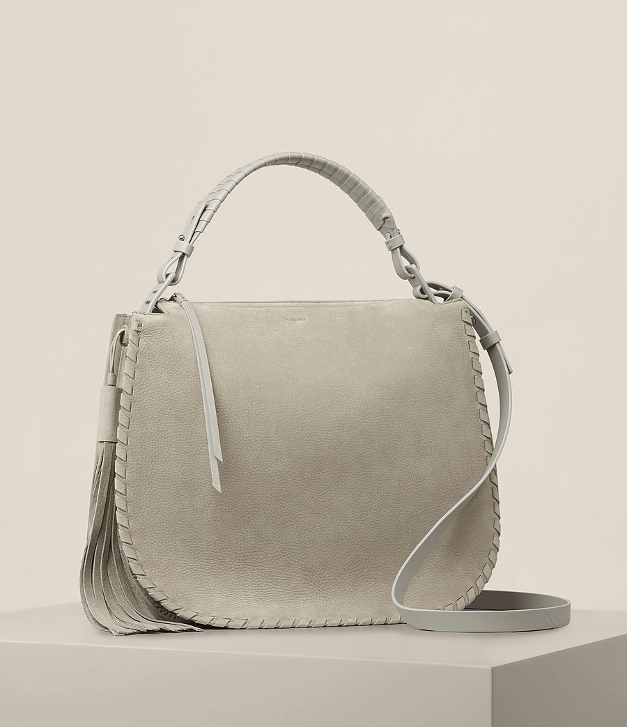 Women's Mori Nubuck Hobo Bag (light_cement_grey) - Image 5