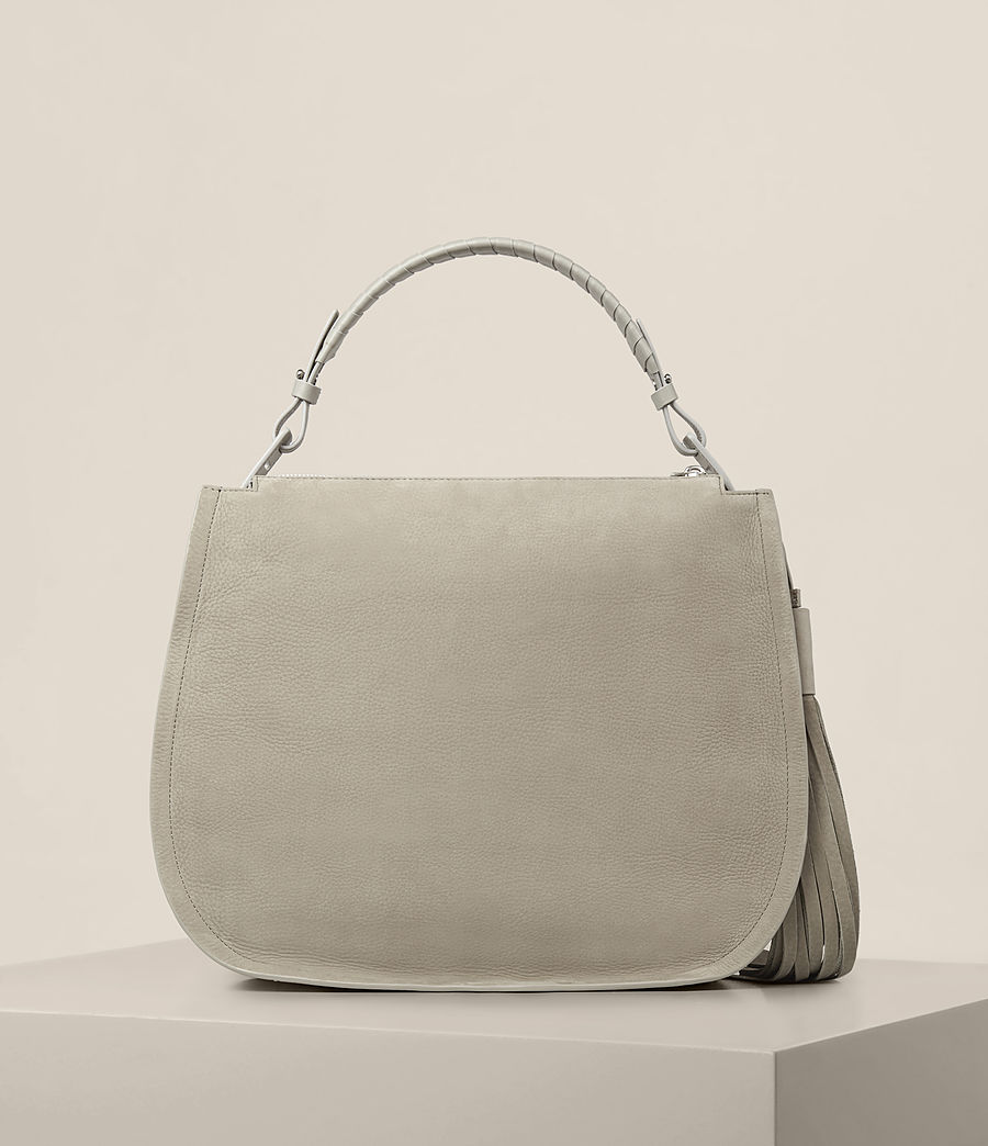 Women's Mori Nubuck Hobo Bag (light_cement_grey) - Image 7