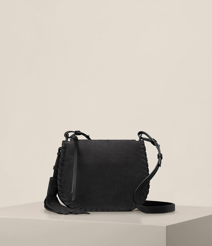 Womens Mori Nubuck Crossbody Bag (black) - Image 1
