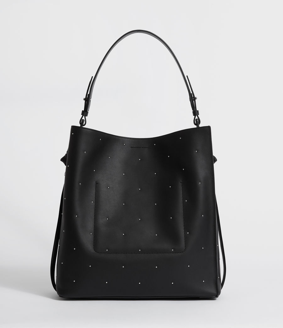 Mujer Kathi Leather North South Tote Bag (black) - Image 7