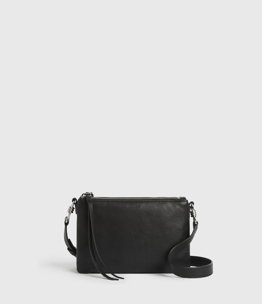 Donne Borsa A Tracolla Captain, In Pelle (black) - Image 1