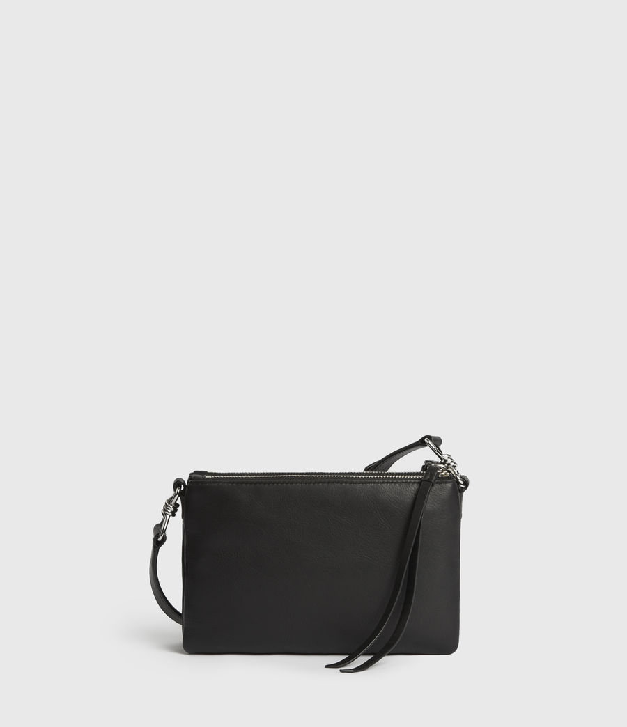 Donne Borsa A Tracolla Captain, In Pelle (black) - Image 6