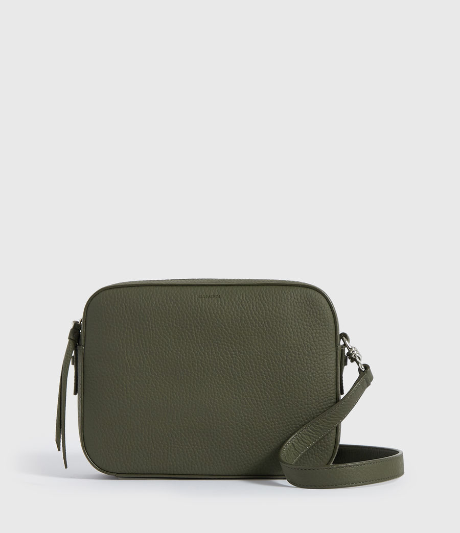 Damen Captain Lea Leather Square Crossbody Bag (khaki_green) - Image 1