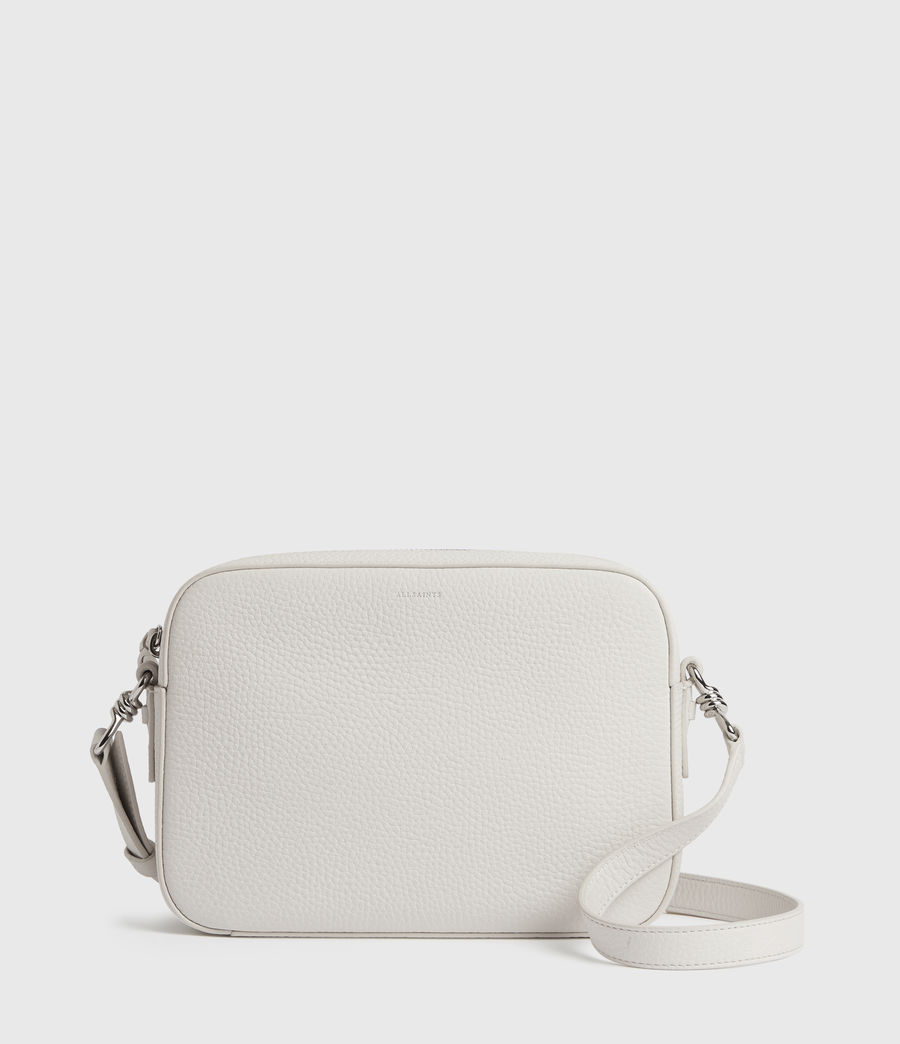 Womens Captain Lea Leather Square Crossbody Bag (chalk_white) - Image 1