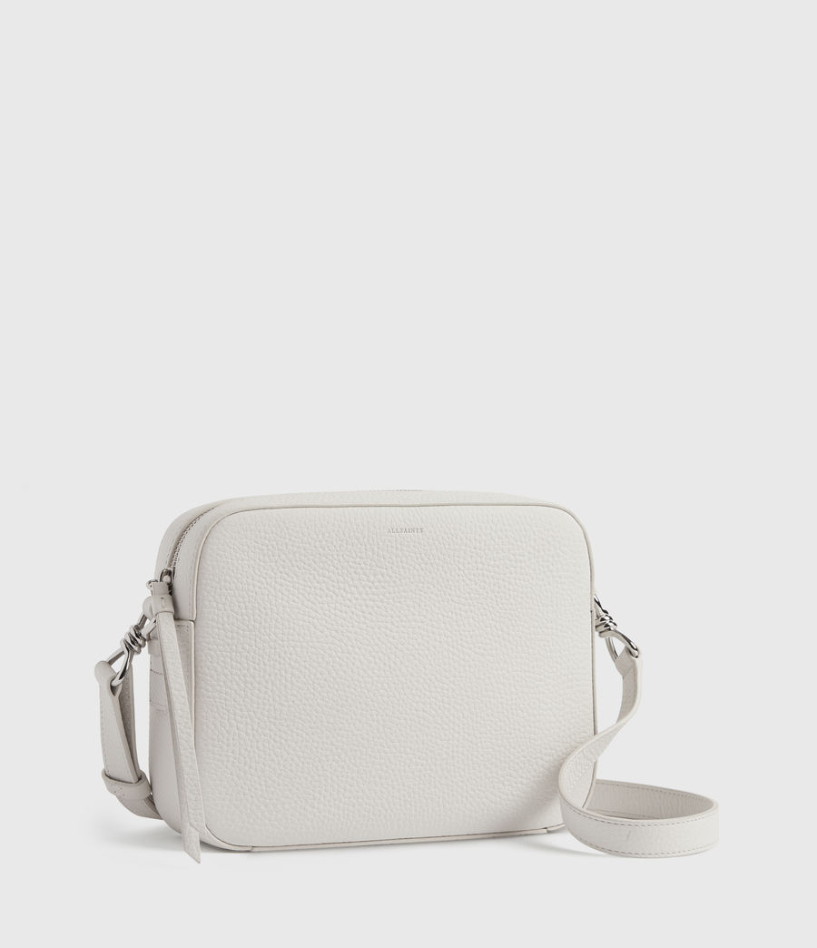 Womens Captain Lea Leather Square Crossbody Bag (chalk_white) - Image 3