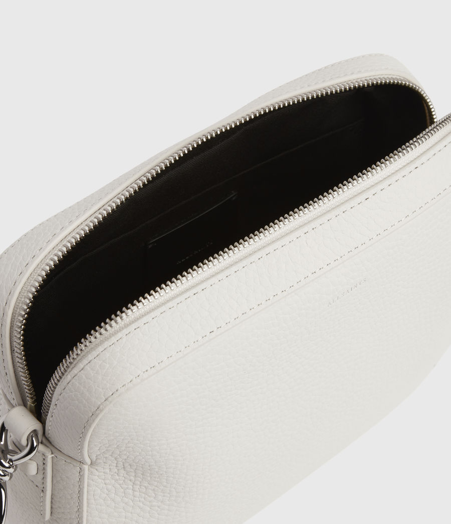 Womens Captain Lea Leather Square Crossbody Bag (chalk_white) - Image 4