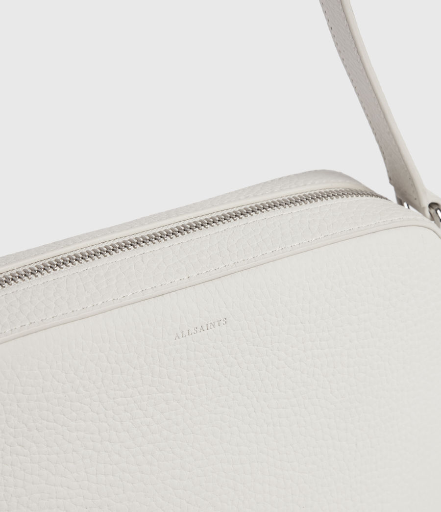 Mujer Captain Lea Leather Square Crossbody Bag (chalk_white) - Image 5