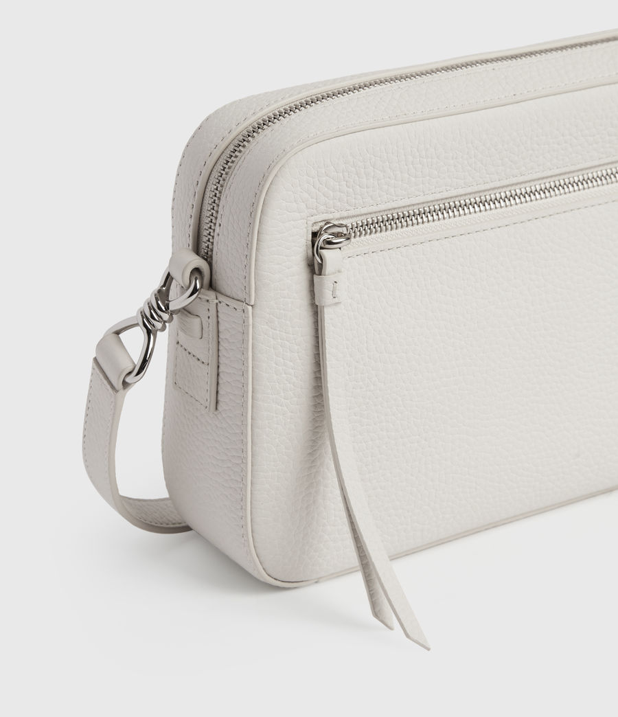 Womens Captain Lea Leather Square Crossbody Bag (chalk_white) - Image 6