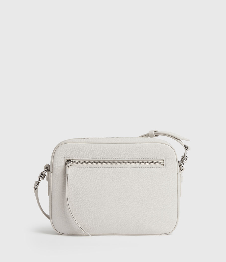Womens Captain Lea Leather Square Crossbody Bag (chalk_white) - Image 7