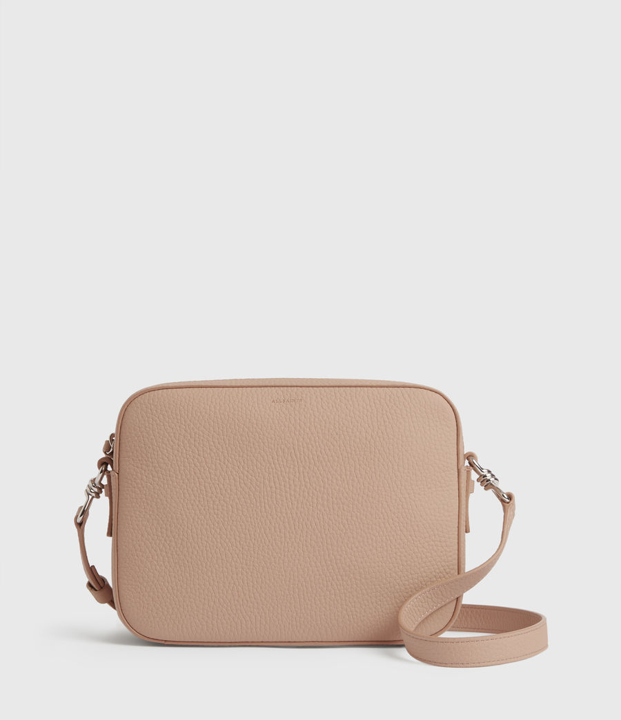 Womens Captain Lea Leather Square Crossbody Bag (nude_pink) - Image 1