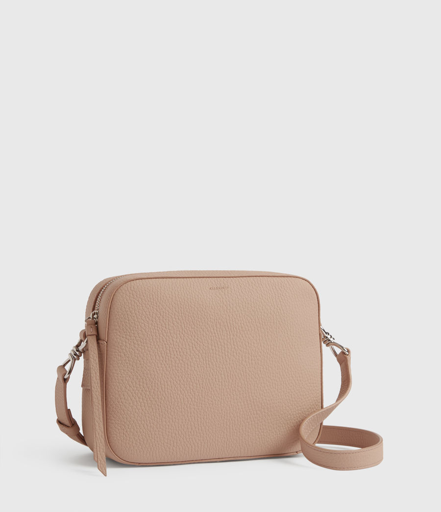 Womens Captain Lea Leather Square Crossbody Bag (nude_pink) - Image 3