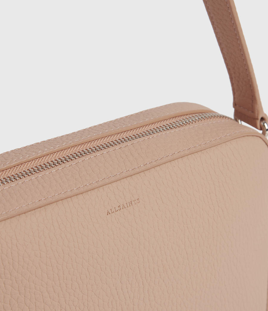 Womens Captain Lea Leather Square Crossbody Bag (nude_pink) - Image 5