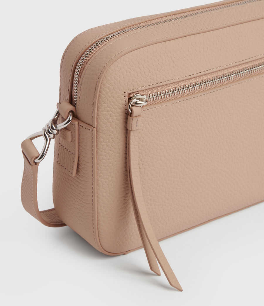 Womens Captain Lea Leather Square Crossbody Bag (nude_pink) - Image 6