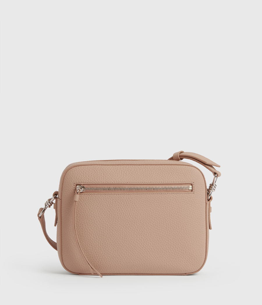 Womens Captain Lea Leather Square Crossbody Bag (nude_pink) - Image 7