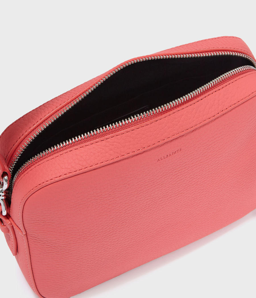 Women's Captain Lea Leather Square Crossbody Bag (coral_pink) - Image 5