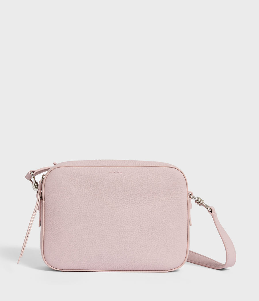 Donne Captain Lea Leather Square Crossbody Bag (lavender) - Image 1