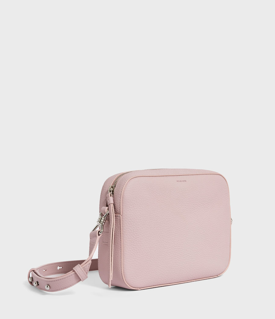 Donne Captain Lea Leather Square Crossbody Bag (lavender) - Image 2