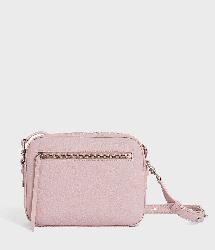 Womens Captain Lea Leather Square Crossbody Bag (lavender) - Image 5