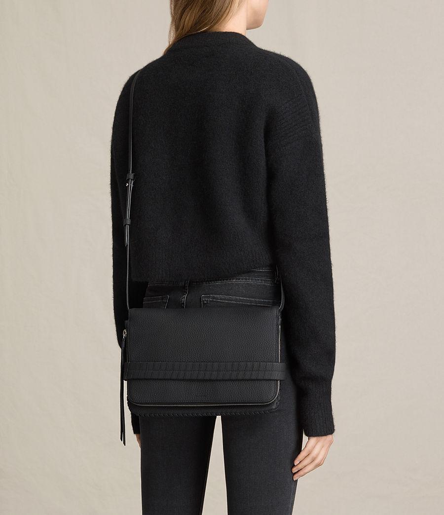 Womens Club Leather Clutch (black) - Image 2