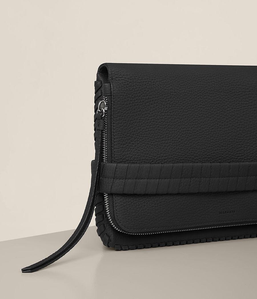 Womens Club Leather Clutch (black) - Image 3