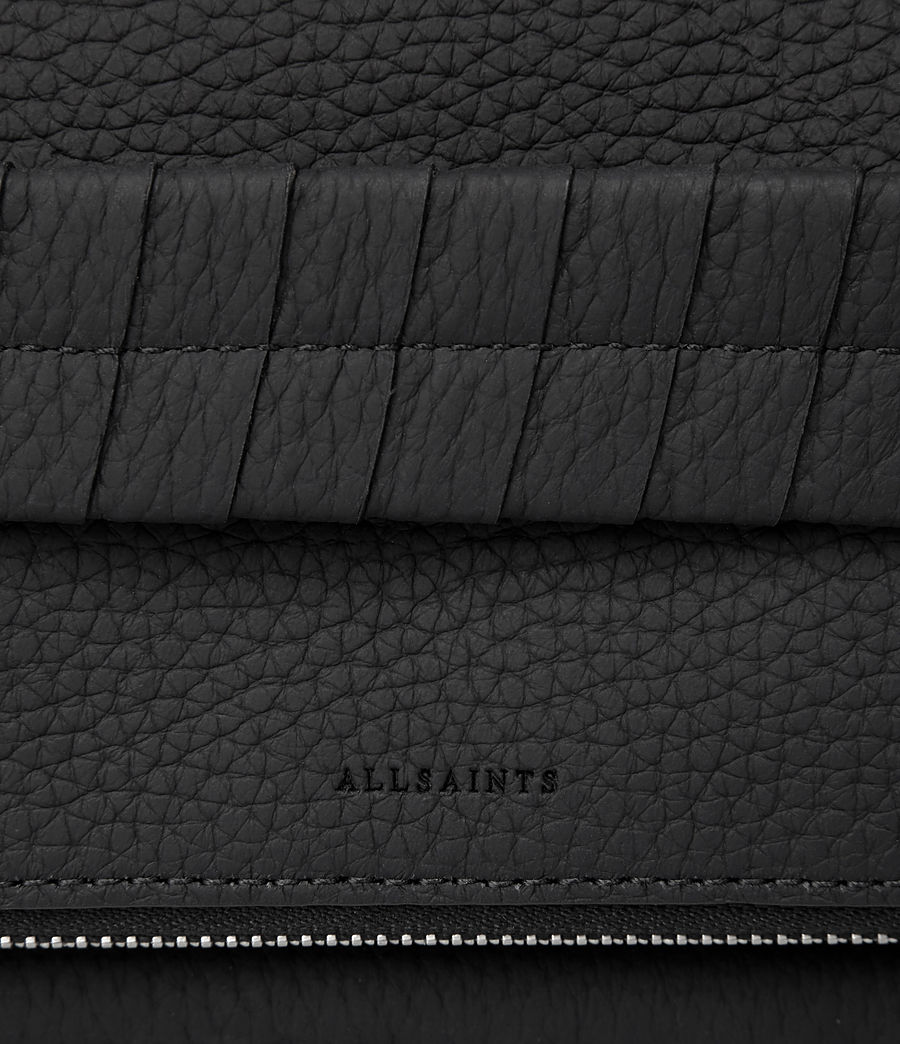 Womens Club Leather Clutch (black) - Image 4