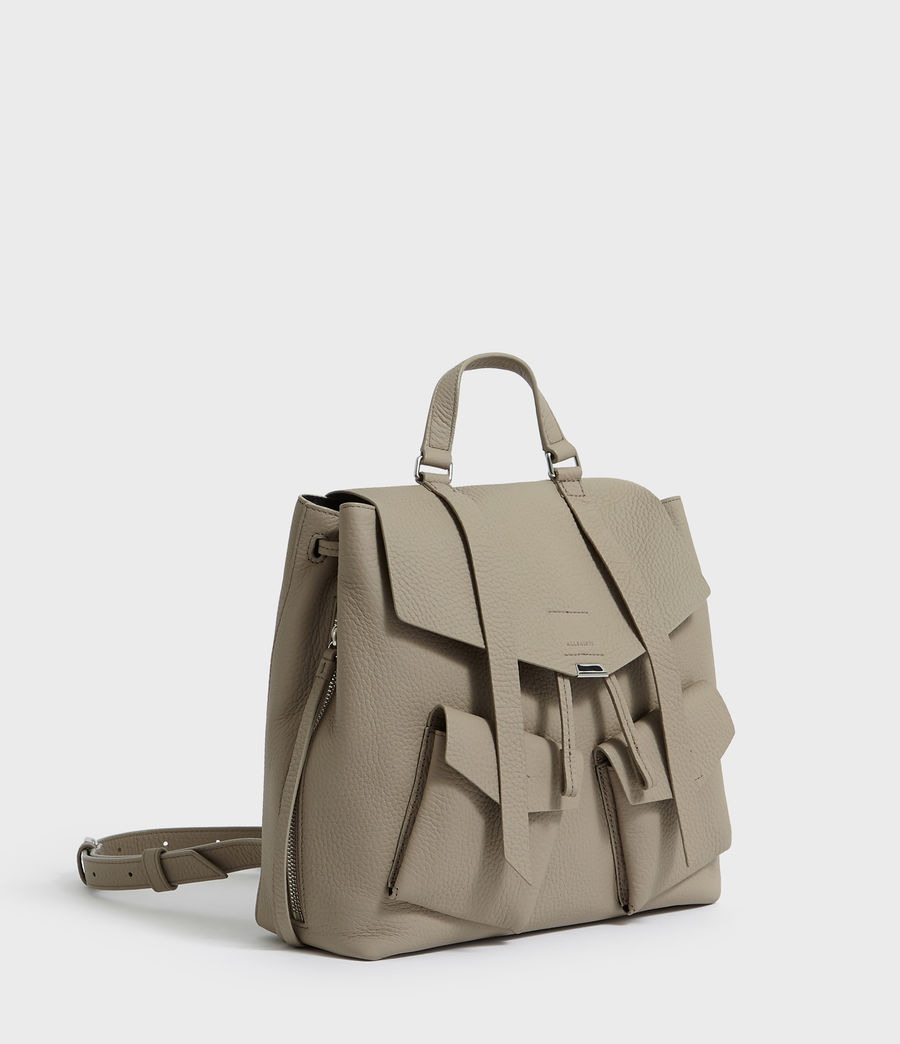 Womens Captain Lea Leather Backpack (dune) - Image 3