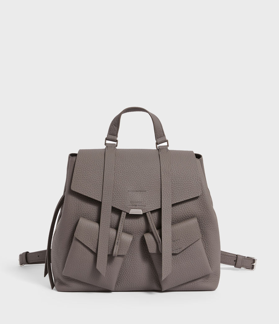 Womens Captain Lea Leather Backpack (storm_grey) - Image 1