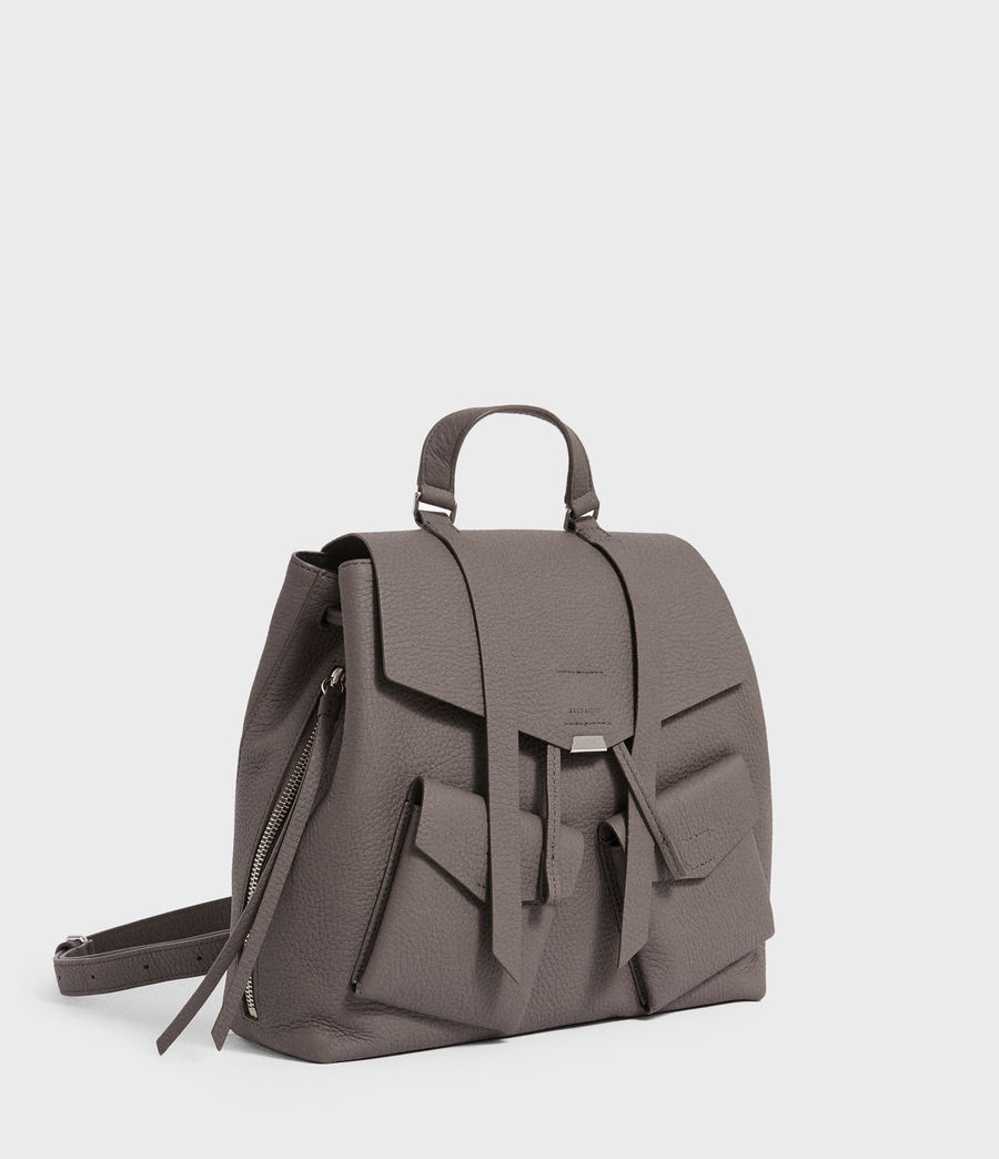 Womens Captain Lea Leather Backpack (storm_grey) - Image 2