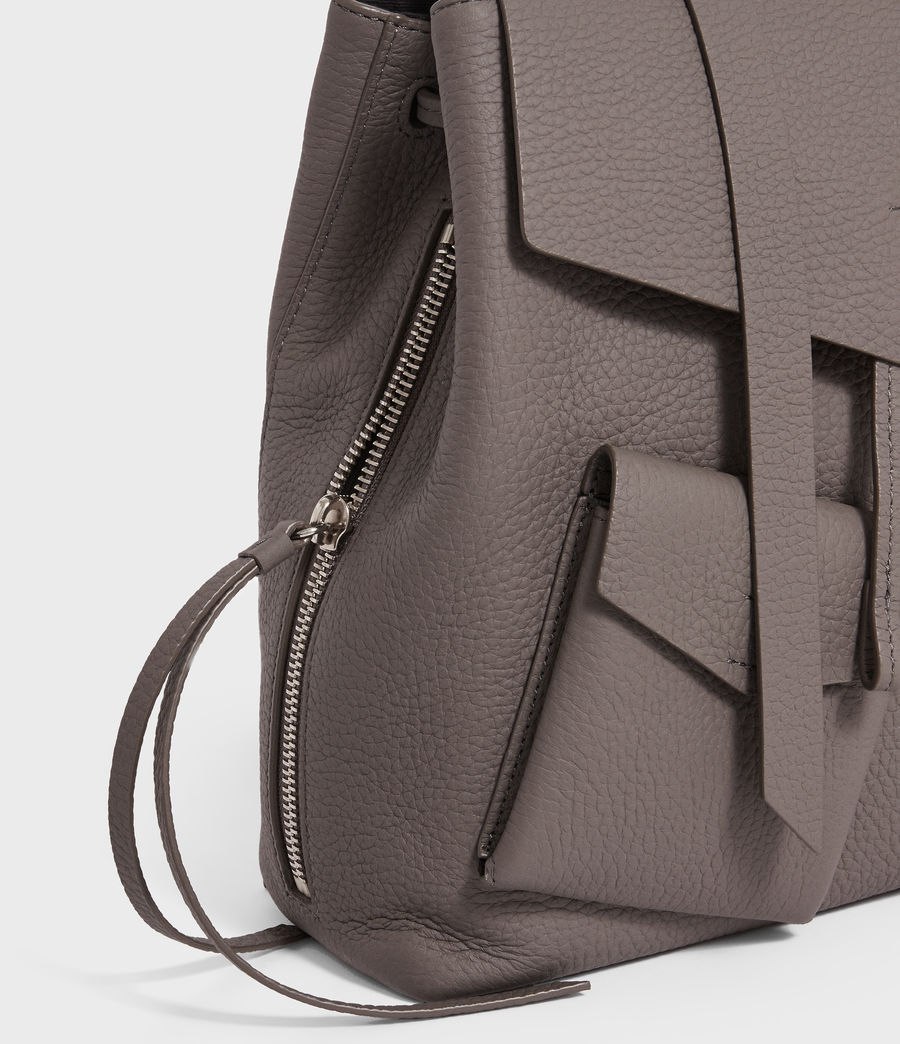 Womens Captain Lea Leather Backpack (storm_grey) - Image 3
