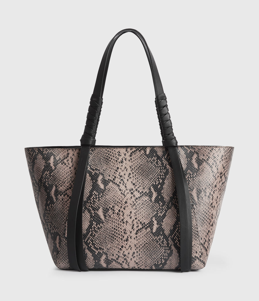 Womens Kepi Small East West Leather Tote Bag (snake_pink) - Image 1