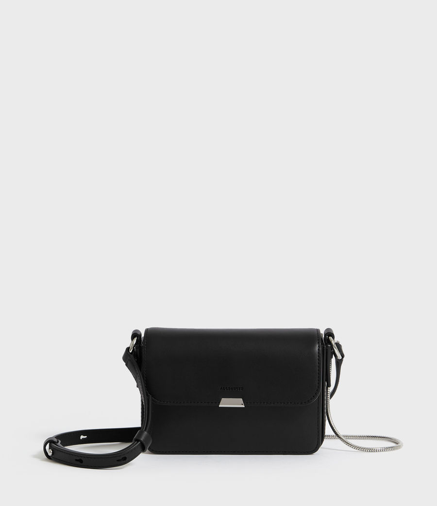 Women's Captain Mini Flap Crossbody (black) - Image 1