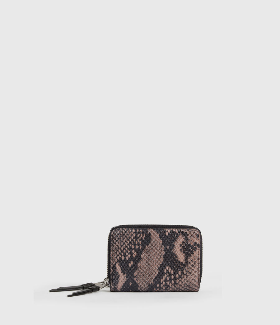Women's Nantes Leather Cardholder (snake_pink) - Image 1
