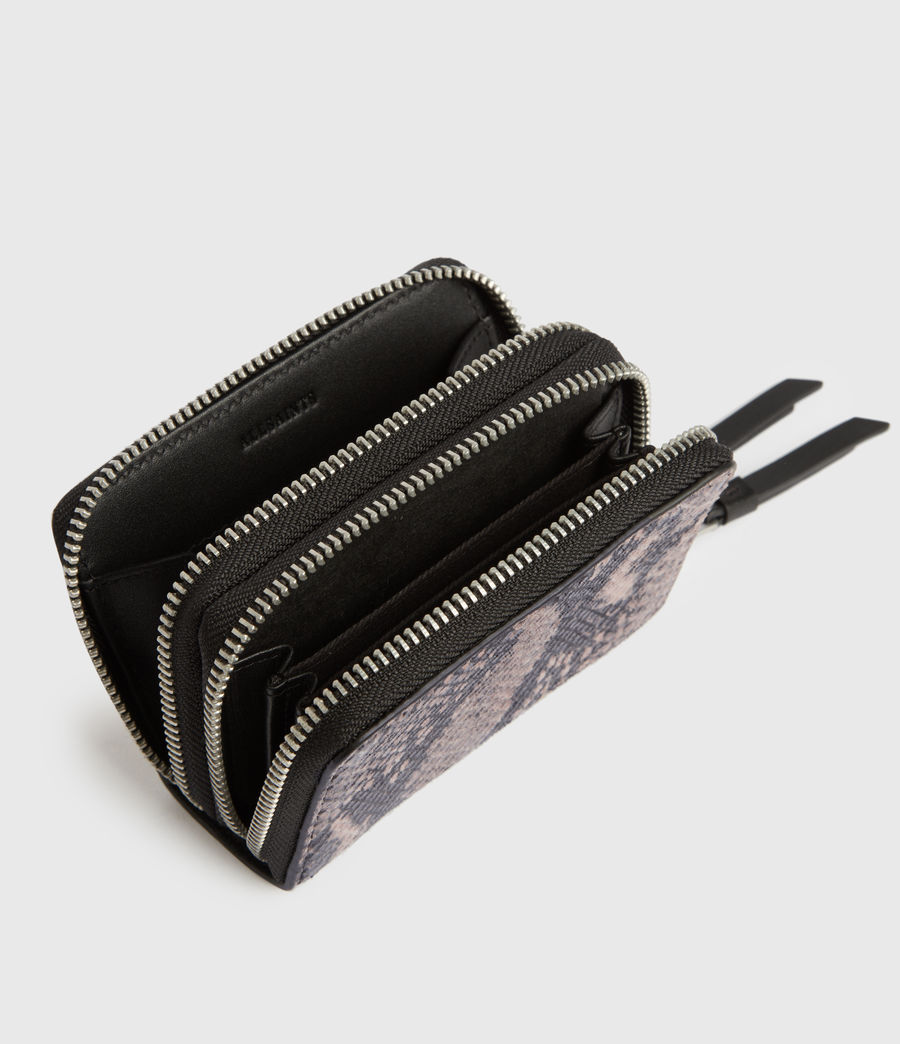 Women's Nantes Leather Cardholder (snake_pink) - Image 2